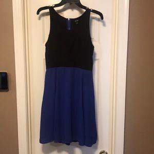Apt 9 Colorblock Blue Black Sleeveless Dress XS